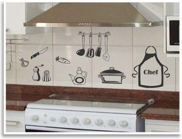Aparador Para Ficar Atras Do Sofa ~ Adesivo de cozinha 01 68 Adesivos Comprar e Colar