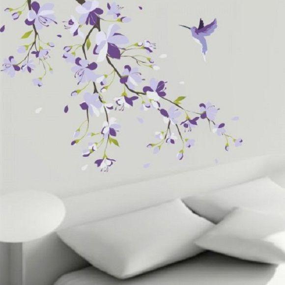 Adesivo floral de parede 209 Adesivos Comprar e Colar  ~ Adesivo De Parede Para Quarto Unissex